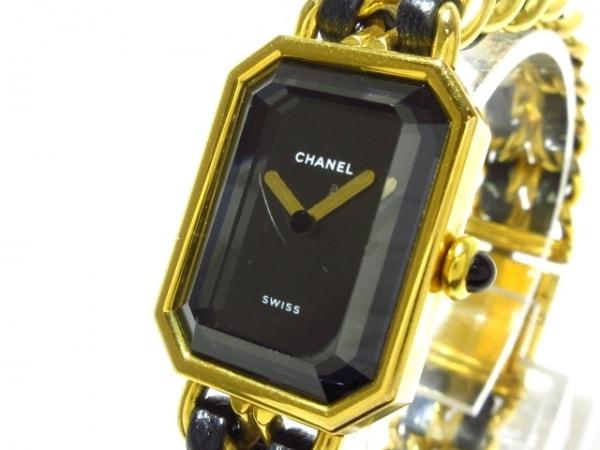 CHANEL(シャネル) 腕時計 プルミエール 483011002 レディース Mサイズ 黒