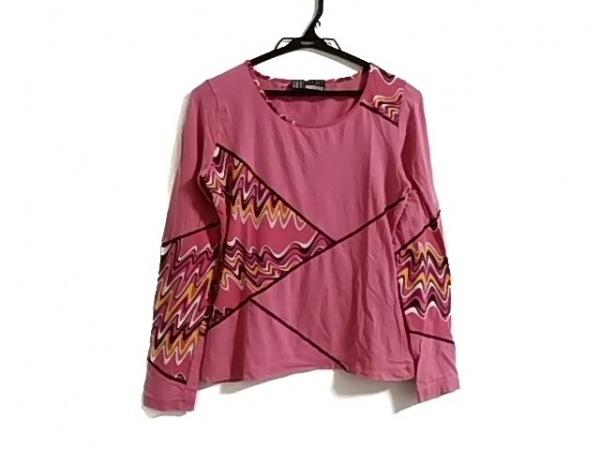 ミッソーニスポーツ 長袖Tシャツ サイズ44 L レディース ピンク×白×マルチ