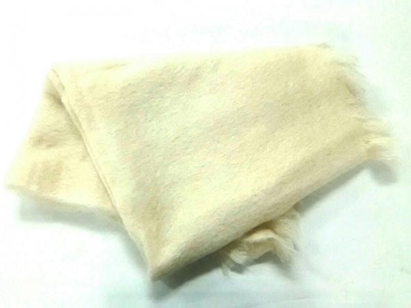 AVOCA(アヴォカ) ブランケット美品  アイボリー モヘヤ×ウール×ナイロン