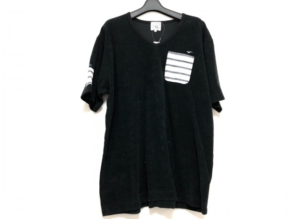 SINACOVA(シナコバ) 半袖カットソー サイズLL メンズ 黒×アイボリー×ダークネイビー