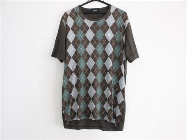 バーバリーブラックレーベル 半袖Tシャツ サイズ3 L メンズ アーガイル