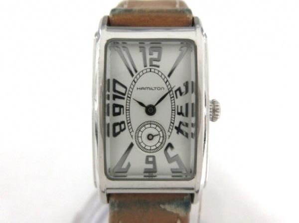 HAMILTON(ハミルトン) 腕時計 H112110 レディース 革ベルト 白