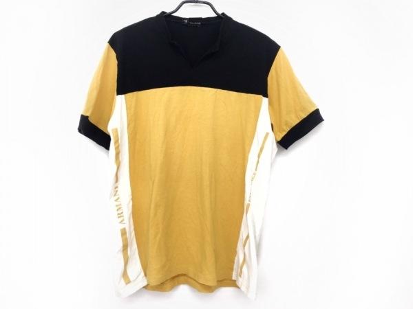 ARMANI(アルマーニ) 半袖Tシャツ サイズXL メンズ オレンジ×黒×白