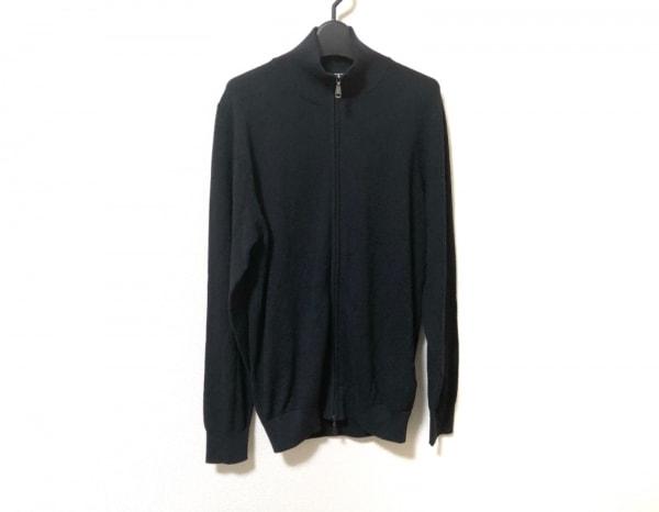 ブリオーニ 長袖セーター サイズ46 XL メンズ美品  ダークネイビー ジップアップ