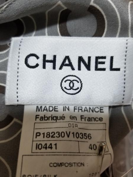CHANEL(シャネル) ノースリーブカットソー サイズ40 M レディース美品  P18230 シルク
