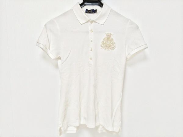 ポロラルフローレン 半袖ポロシャツ サイズM レディース アイボリー