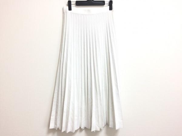 HYALINES(ハイアリン) ロングスカート サイズ38 M レディース 白 プリーツ