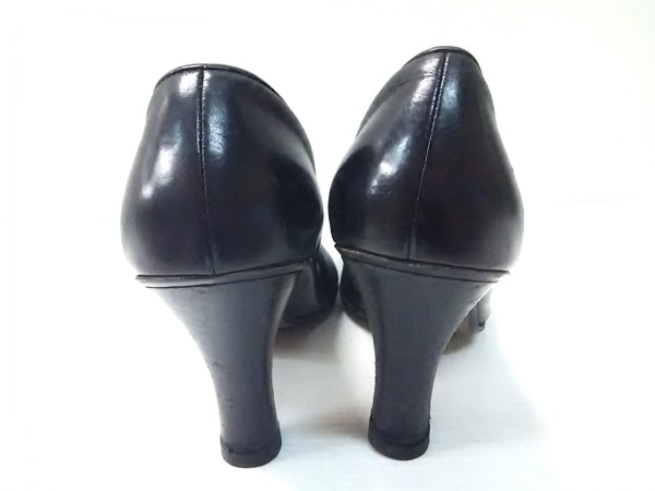 COLE HAAN(コールハーン) パンプス 7 B レディース 黒 リボン/フリンジ レザー