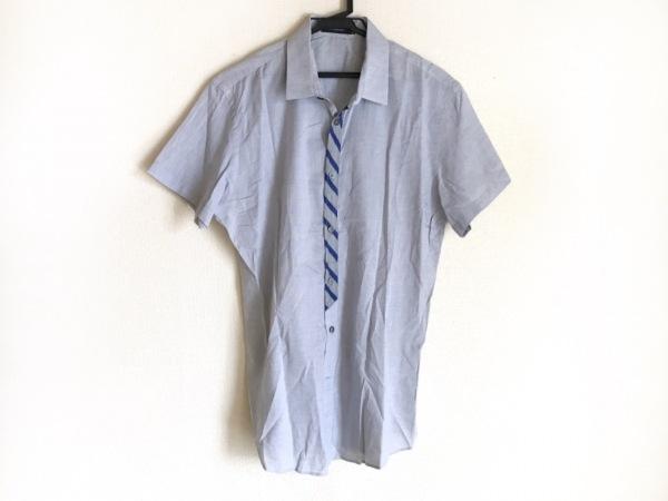 ヴィクター&ロルフ 半袖シャツ サイズ48 XL メンズ ライトグレー×ブルー Monsieur