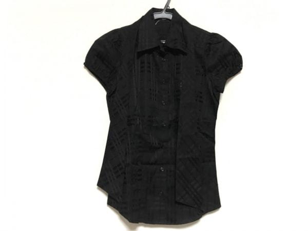 バーバリーブルーレーベル 半袖シャツブラウス サイズ36 S レディース美品  黒