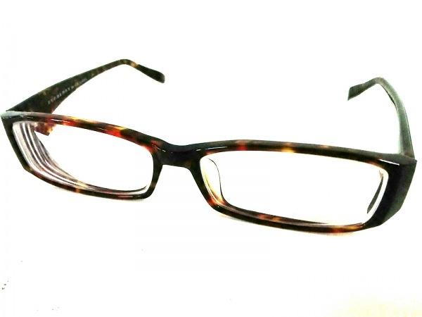 バーバリーブラックレーベル メガネ美品  BC6005 ブラウン×ベージュ 度入り