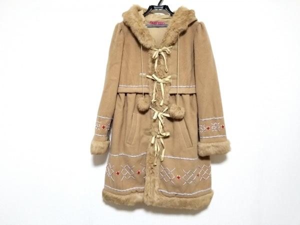 MANOUSH(マヌーシュ) コート サイズ36 S レディース美品  ファー/刺繍/冬物