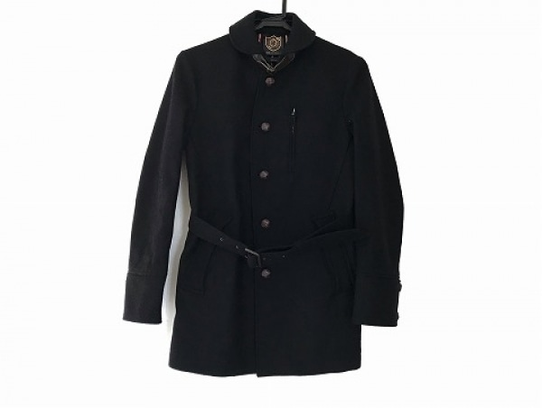 COMME CA COMMUNE(コムサコミューン) コート サイズS メンズ 黒 冬物