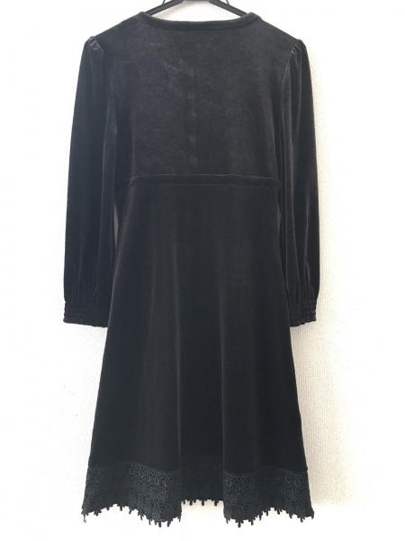 MORGAN(モルガン) ワンピース サイズ36 S レディース美品  黒 ベロア