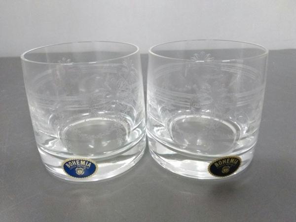 BOHEMIA(ボヘミア) ペアグラス新品同様  クリア ガラス