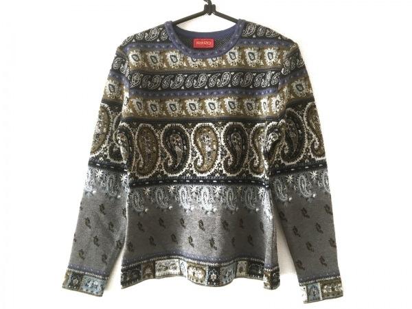 KENZO(ケンゾー) 長袖セーター サイズ2 M レディース美品  グレー×カーキ×マルチ