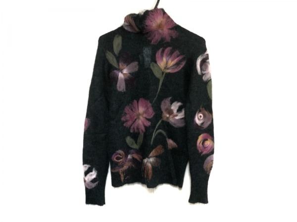 KENZO(ケンゾー) 長袖セーター サイズM レディース美品  ダークグリーン×マルチ