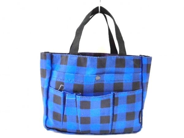 BEAMSBOY(ビームスボーイ) トートバッグ ブルー×黒×パープル ナイロン