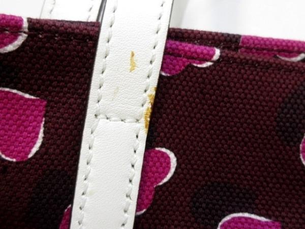グッチ トートバッグ - 282439 ボルドー×ピンク×白 ハート キャンバス×レザー