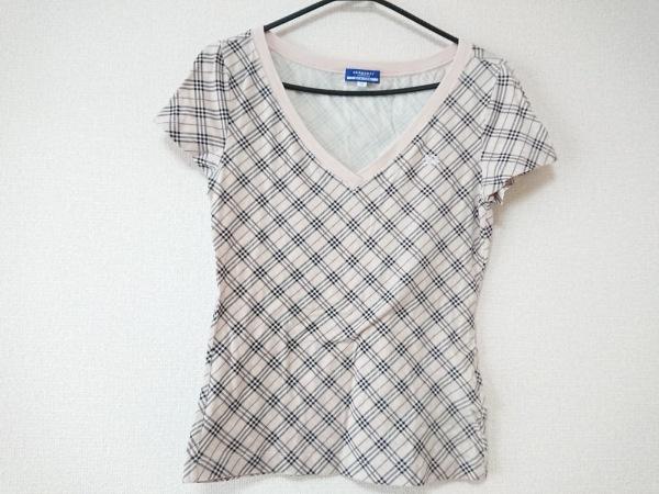 バーバリーブルーレーベル 半袖Tシャツ サイズ38 M レディース チェック柄