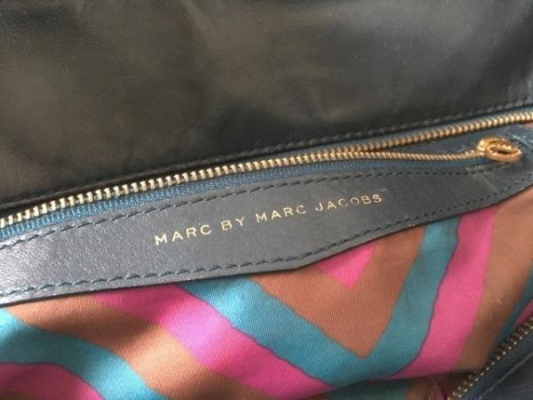 MARC BY MARC JACOBS(マークバイマークジェイコブス) ハンドバッグ - ネイビー レザー