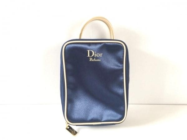 Dior Parfums(ディオールパフューム) ハンドバッグ ネイビー×ベージュ ナイロン