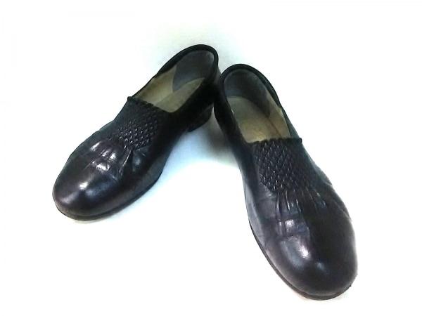 菊地武男の靴(キクチタケオノクツ) シューズ 23 1/2 E レディース 黒 レザー