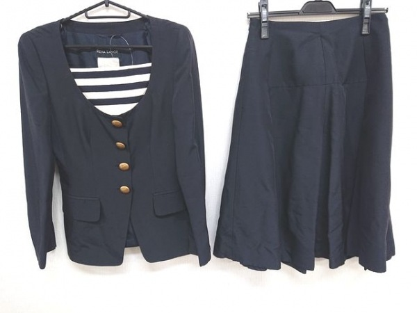 RENA LANGE(レナランゲ) スカートスーツ レディース ネイビー×アイボリー