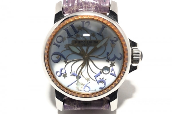リトモラティーノ 腕時計 - レディース ドーム型風防/革ベルト/スター 白