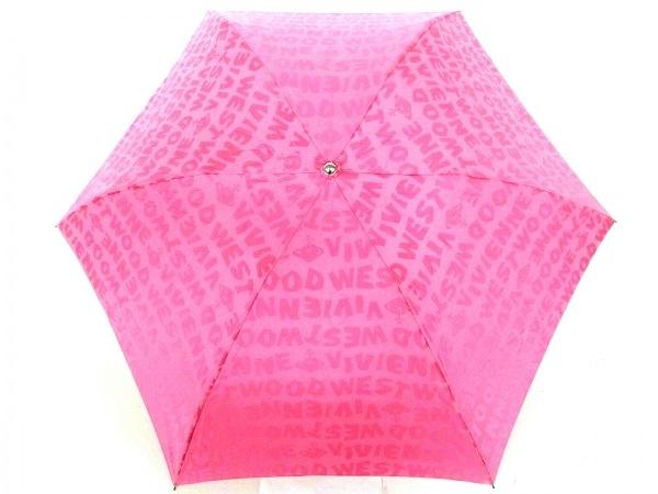 ヴィヴィアンウエストウッドアクセサリーズ 折りたたみ傘 ピンク 化学繊維×金属素材