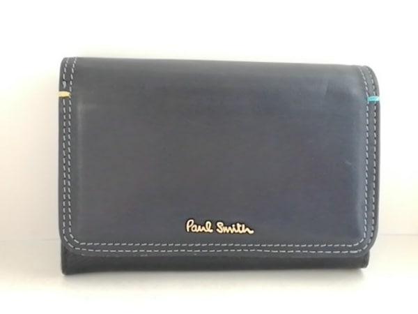 PaulSmith(ポールスミス) 2つ折り財布 ダークネイビー レザー