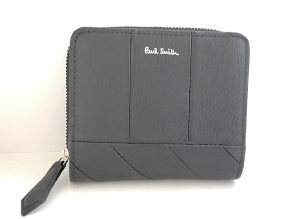 PaulSmith(ポールスミス) 2つ折り財布 黒 ラウンドファスナー レザー