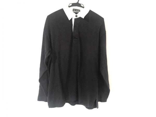 ISSEYMIYAKE(イッセイミヤケ) 長袖ポロシャツ サイズM メンズ ダークネイビー×白