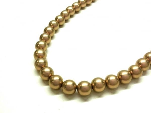 プラスヴァンドーム ネックレス美品  フェイクパール×金属素材 ゴールド