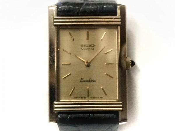 SEIKO(セイコー) 腕時計 エクセリーヌ 2E20-5200 レディース 型押し加工 ゴールド
