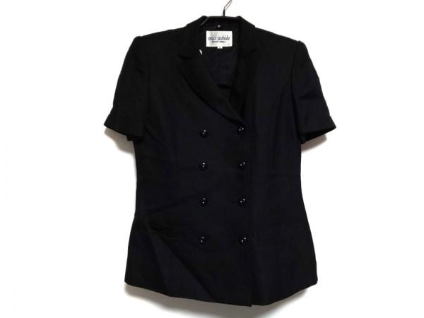 JUN ASHIDA(ジュンアシダ) ジャケット サイズ7 S レディース 黒 肩パッド/半袖