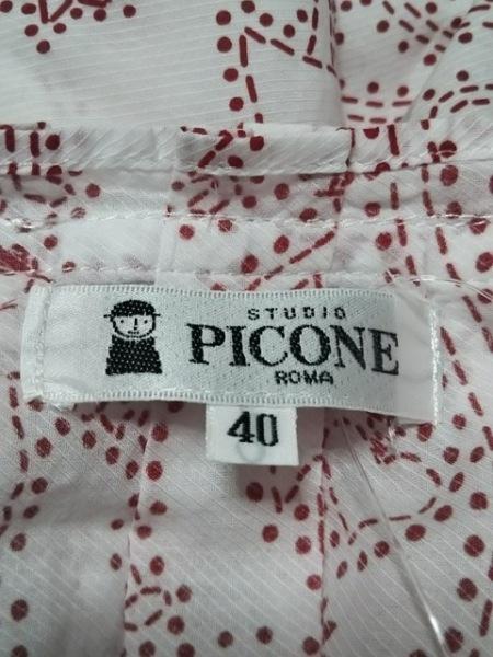 PICONE(ピッコーネ) 長袖シャツブラウス サイズ40 M レディース美品  白×レッド