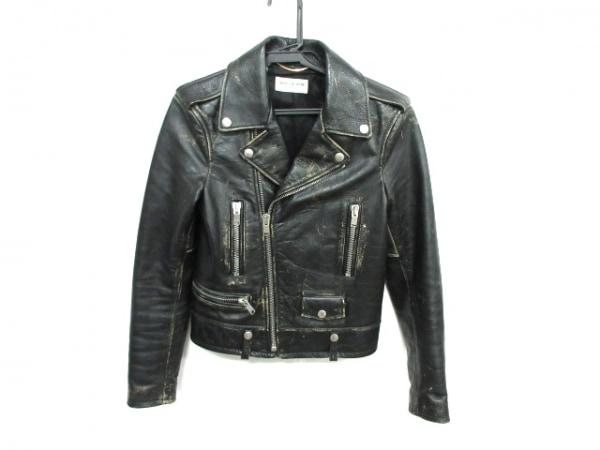 サンローランパリ ライダースジャケット サイズF34 レディース L01 397287 Y5RD2 黒