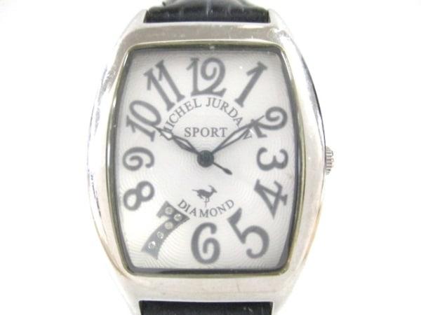 ミッシェルジョルダン 腕時計 SL-1000 レディース 革ベルト/型押し加工 白