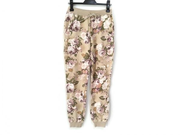 kaon(カオン) パンツ レディース美品  ベージュ×ピンク×マルチ 花柄