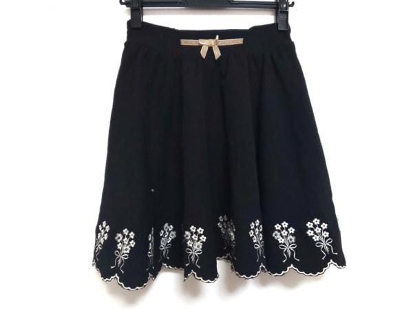 シークレットハニー スカート サイズ2 M レディース美品  黒×ベージュ×アイボリー