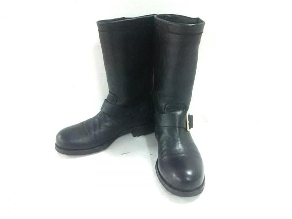 JIMMY CHOO(ジミーチュウ) ブーツ 36 1/2 レディース 黒 レザー