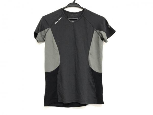 MAMMUT(マムート) 半袖Tシャツ サイズM レディース 黒×グレー
