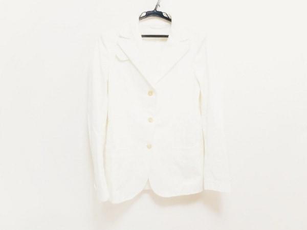 LUCIANO BARBERA(ルチアーノバルベラ) ジャケット サイズ42 L レディース新品同様  白