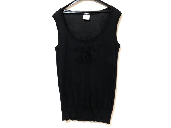 CHANEL(シャネル) ノースリーブセーター サイズ40 M レディース 黒