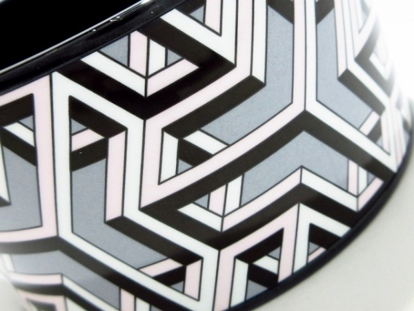 HERMES(エルメス) バングル美品  エマイユ 金属素材 黒×白×ピンク