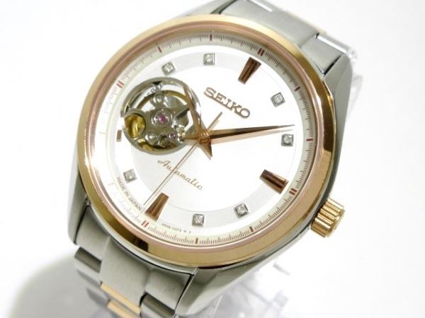 SEIKO(セイコー) 腕時計美品  プレサージュメカニカル 4R38-00R0 ボーイズ シルバー