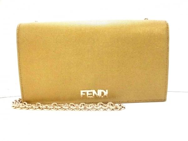FENDI(フェンディ) 財布美品  - 8M0219 ゴールド チェーンウォレット レザー