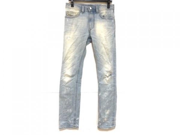 DIESEL(ディーゼル) ジーンズ サイズ27 メンズ THAVAR ライトブルー ダメージ加工