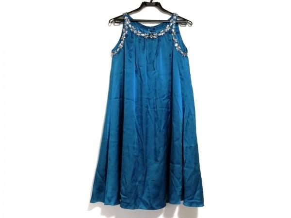 CEST LAVIE(セラヴィ) ワンピース サイズ9 M レディース美品  ブルー ビジュー